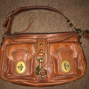 Coach Legacy Mandee Gigi Brown Leather Hobo Bag